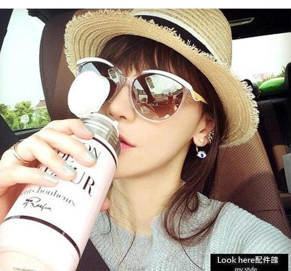 DIOR同款經典墨鏡 迪奧同款貓眼造型太陽眼鏡 嗆口小辣椒同款太陽鏡 抗紫外線 UV400【B140】