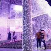 防水led彩燈閃燈串燈滿天星星裝飾工程亮化節日圣誕婚慶時光隧道  9號潮人館
