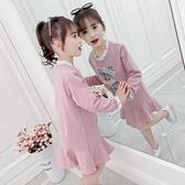 女童洋裝秋裝2020新款兒童洋氣公主裙子長袖衛衣裙女孩童裝春秋 Cocoa