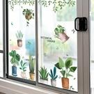 窗貼 小清新窗花貼玻璃門貼紙幼兒園牆面裝飾教室布置牆貼畫牆紙自黏 莎拉嘿幼