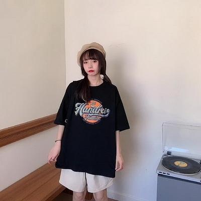 (下殺)彈性棉短袖t恤女中長版【08SG06402】