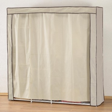 《C&B》新垣日式防塵衣櫥架-寬180CM-米色