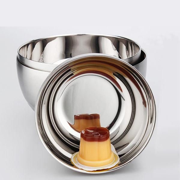 PUSH! 餐具雙層加厚防燙防摔不鏽鋼碗飯碗帶保鮮日期標示蓋子(中號)E31