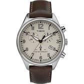 【分期0利率】TIMEX 天美時 三眼錶 米白 41mm 全新原廠公司貨 TXTW2R88200