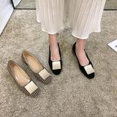 豆豆鞋 單鞋女年春款新款春季百搭淑女低跟粗跟氣質奶奶鞋子春秋女鞋