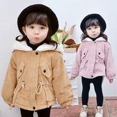 女童冬季外套女寶寶加絨加厚保暖夾克1-3歲嬰兒新款韓版連帽風衣 CY潮流站
