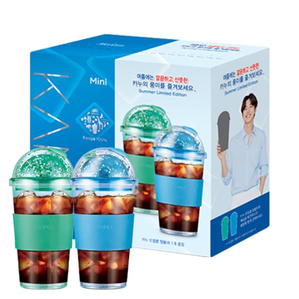 韓國 MAXIM麥心 KANU 夏季星球限定版美式中焙咖啡 附顏色隨機450ml冷水杯1個 (1g×100入/盒)