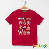 印花短袖T恤04紅色-bossini男童