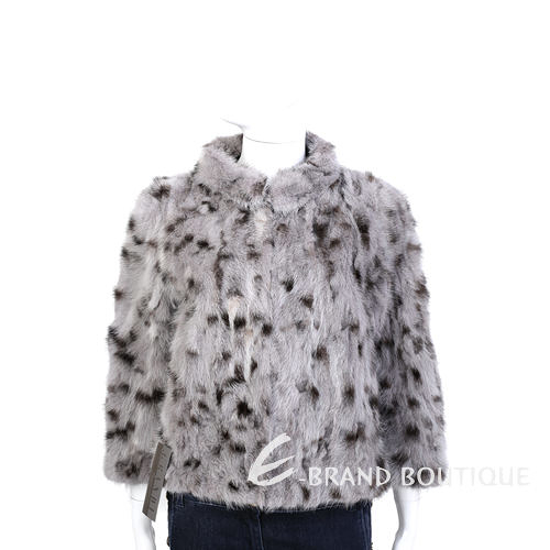 GRANDI furs 灰耦色立領設計皮草外套 1440006-06