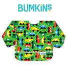 美國Bumkins 小童長袖防水圍兜 -彩色車車 BKSU-227