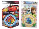 【卡漫城】 卡通 造型認知 時鐘 二款選一 ㊣版 兒童 教學用具 幼兒 Cars Frozen 冰雪奇緣 閃電麥昆