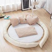爬行墊 地墊家用臥室圓形加厚嬰兒爬爬墊墊子兒童榻榻米寶寶爬行墊 YXS 娜娜小屋
