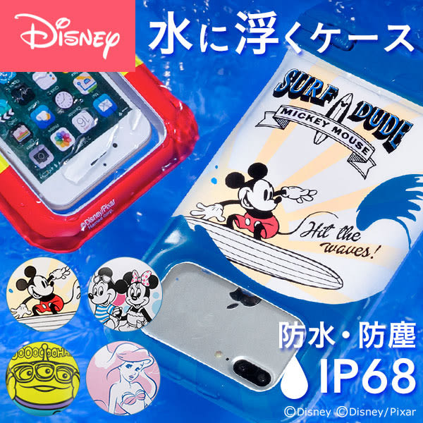 Hamee 自社製品 迪士尼 DIVAID IP68 防水套 手機袋 萬用保護套 (米奇米妮) 566-844625