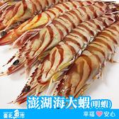 【台北魚市】澎湖海大蝦(大明蝦) 450g / 6尾裝(包冰率15%)
