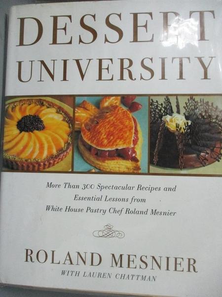 【書寶二手書T7/餐飲_WGA】Dessert University: More Than 300 Spectacula