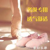 舞鞋 兒童舞蹈鞋女軟底練功鞋成人芭蕾舞鞋肉粉色民族跳舞形體鞋貓爪鞋 夢幻衣都