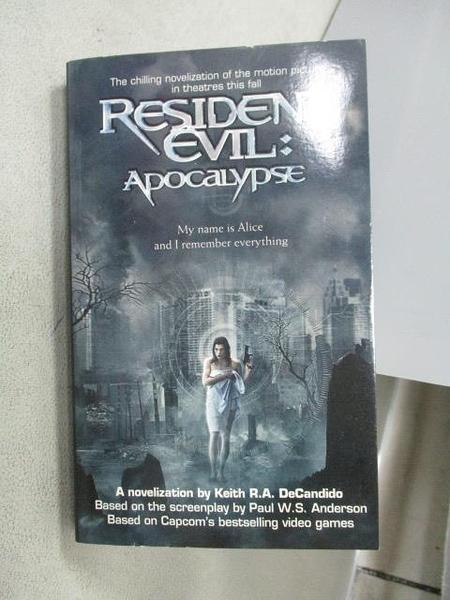 【書寶二手書T5/原文小說_MOA】Resident Evil:Apocalypse