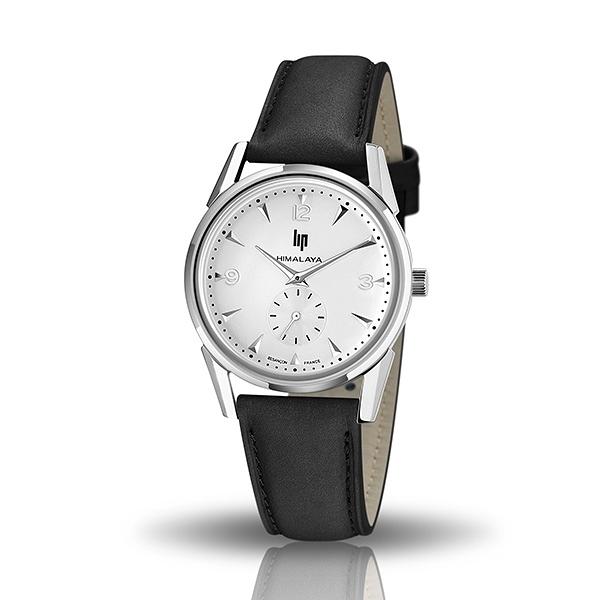 【lip】Himalaya時尚精緻皮革石英腕錶-時尚黑/671058/台灣總代理公司貨享兩年保固