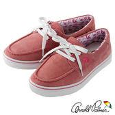 Arnold Palmer - 繽紛絢彩麂皮綁帶休閒帆船鞋 075-粉紅