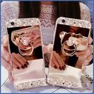 蘋果 iPhone XS XR XS MAX iX i8+ i7+ SE 2020 小熊水鑽 鏡面殼 手機殼 保護殼 支架