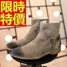 短靴機車靴時尚風靡-走秀款西部風格磨砂頭層牛皮真皮男牛仔靴2色65h1【巴黎精品】