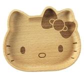 小禮堂 Hello Kitty 造型木質飾品盤 肥皂盤 小木盤 小物盤  (棕 大臉) 4901610-17635