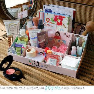 桌面DIY收納盒粉色八音盒