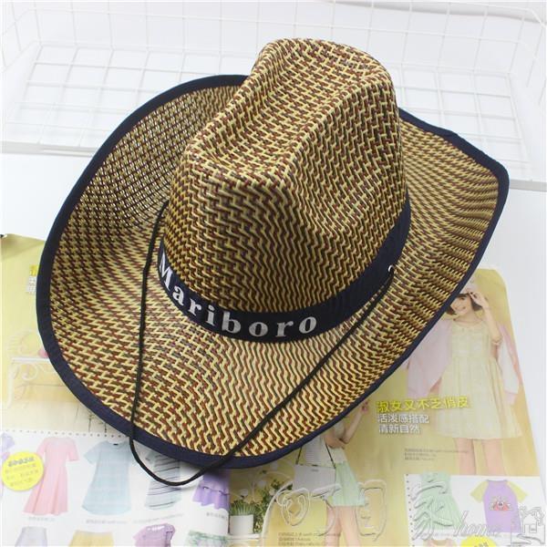 釣魚騎車男士牛仔帽度假夏沙灘大沿帽子女太陽防曬帽子男遮陽草帽【快速出貨】