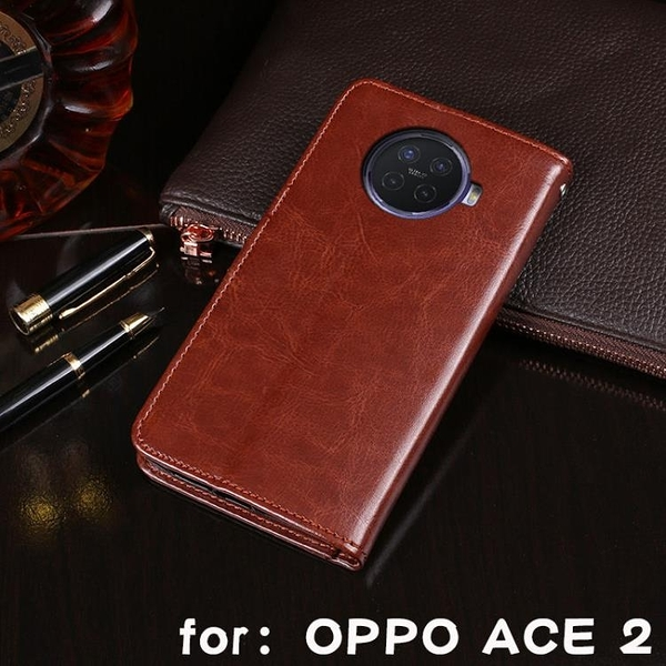 新品特價 適用OPPO Reno ACE錢包支架防摔手機殼ace 2英倫風男女款手機皮套