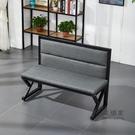 卡座沙發 定製奶茶店桌椅組合火鍋店燒烤工業風鐵藝酒吧咖啡廳桌椅卡座沙發T