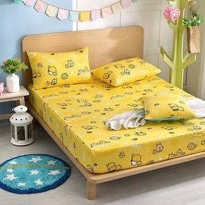 【BREAD TREE麵包樹】精梳棉雙人床包+枕套三件組(檸檬派對)檸檬派對(黃)