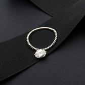 戒指 925純銀鑲鑽-精美亮眼情人節生日禮物女開口戒73ic25【時尚巴黎】