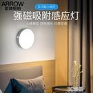 人體感應燈led小夜燈充電式自動聲控過道走廊樓梯壁燈臥室衣柜燈 3C優購