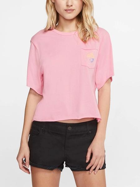 Hurley W TAKE ME AWAY POCKET CREW PINK T恤(女)