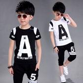 童裝男童夏裝套裝2018新款中大童短袖T恤兒童韓版男女孩5-7-6-9歲 易貨居