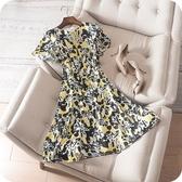 洋裝-短袖夏季青春亮麗星星塗鴉連身裙73sz49【時尚巴黎】