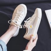 夏季透氣網面小白鞋女2020年新款春夏百搭網鞋餅干小雛菊帆布鞋子