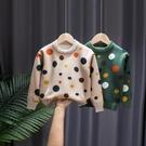 2020秋冬新款女童毛衣洋氣兒童套頭加絨加厚高領中大童針織打底衫 小山好物