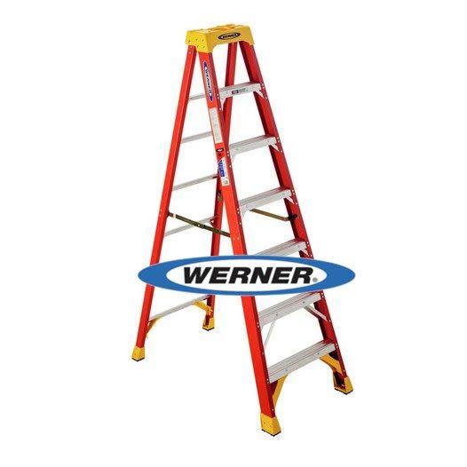 美國Werner穩耐絕緣梯-6207AS 玻璃鋼單側人字梯(梯長2.1m)    FRP梯 A字梯 梯子