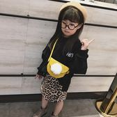 【新年鉅惠】兒童迷你斜挎包韓版卡通女童半圓毛球潮包可愛背包時尚寶寶包包