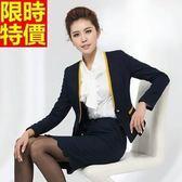 西裝套裝(長袖裙裝)-商務辦公精選熱銷時尚俐落OL制服66x47【巴黎精品】