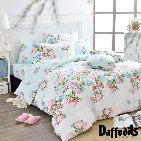 Daffodils《戀戀亞維儂》單人二件式純棉枕套床包組.精梳純棉/台灣精製