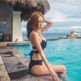 性感聚攏綁帶歐美顯瘦日韓分體比基尼bikini女泳衣【聚寶屋】