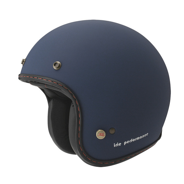 ZEUS 瑞獅安全帽,復古帽,ZS-385B,素/啞光藍