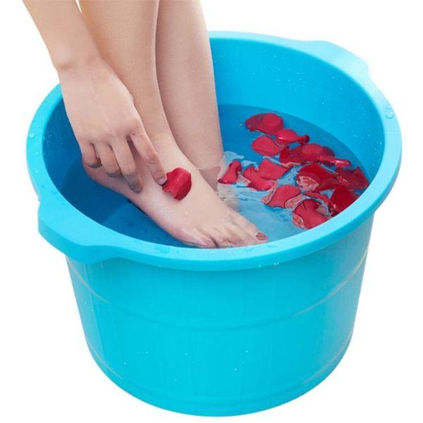 加高加厚按摩泡腳桶塑料彩色足浴桶仿木洗腳盆足浴盆 T【好康618】