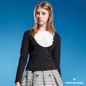 【SHOWCASE】假二件式領結造型棉質T恤(黑色)