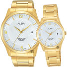獨家 ALBA 雅柏 時尚東京限定石英對錶/情侶手錶-銀x金 VJ42-X204G+VJ22-X242G(AS9C16X1+AH7L70X1)