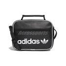 adidas 側背包 Mini Vintage Airliner Bag 黑 白 男女款 人造皮革 三葉草 【PUMP306】 DH1004