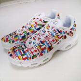 【NG出清】Nike 慢跑鞋 Air Max 97 Plus NIC 白 彩色 右鞋頭黃 國旗印花 運動鞋 世足 男鞋【PUMP306】