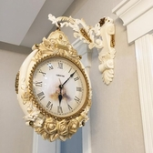 石英鐘客廳雙面掛鐘歐式大氣靜音鐘表創意家用墻掛表時尚個性時鐘 居享優品
